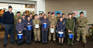 Our first joint venture with the Army Cadets; bag packing at Morrisons!